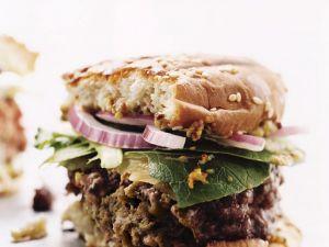 Würziger Rindfleischburger Rezept