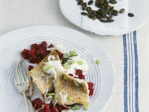 Zander mit Meerrettich und Rote-Bete-Gemüse Rezept