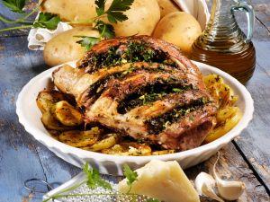 Zicklein und Kartoffeln aus Italien Rezept