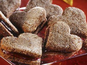 Zimt-Marmelade-Herzen Rezept
