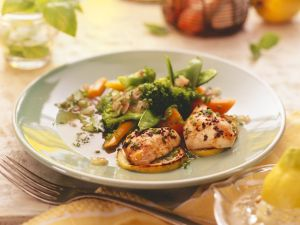 Zitronenhähnchen mit Gemüse Rezept
