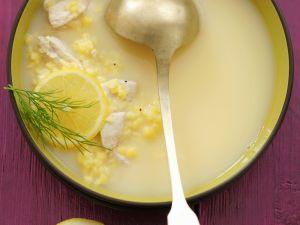 Zitronensuppe auf griechische Art mit Hühnchen Rezept