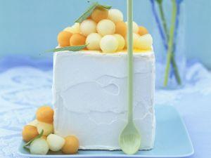 Zitruseis mit Melonensalat Rezept