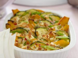 Zucchini-Auflauf mit Kürbis Rezept