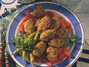 Ausgebackene Zucchini-Bällchen Rezept