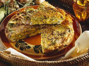 Zucchini-Champignon-Frittata Rezept