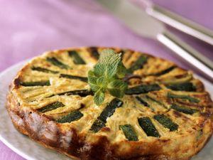 Zucchini-Feta-Kuchen Rezept