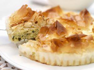 Zucchini-Filoteig-Tarte Rezept