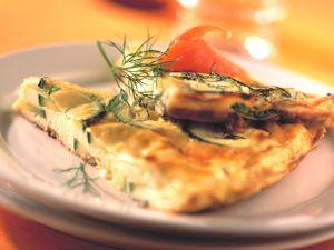 Zucchini-Frittata mit Lachs Rezept