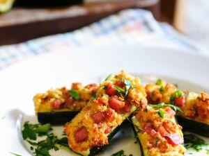 gef llte zucchini mit schinken rezept eat smarter. Black Bedroom Furniture Sets. Home Design Ideas