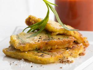 Zucchini in Parmesanhülle gebraten Rezept