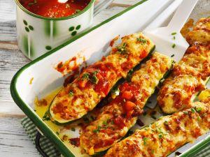 Zucchini mit Grünkernfüllung Rezept