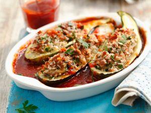Zucchini mit Hackfleischfüllung Rezept