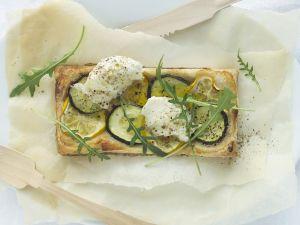 Zucchini-Mozzarella-Tarte Rezept