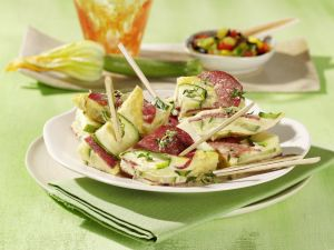 Zucchini-Salami-Frittata Rezept