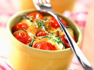 Zucchini-Tomatenauflauf Rezept