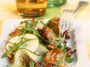 Zucchinisalat mit Bohnen und Thunfisch Rezept