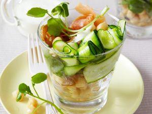 Zucchinisalat mit Fisch Rezept