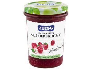 Mit Traubensaft gesüßt: Zuegg Fruchtaufstrich Himbeere