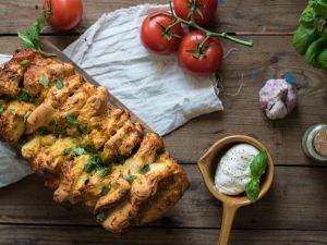 Faltenbrot, Süßkartoffelsuppe und Hefezopf