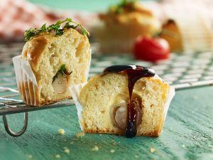 Zweierlei gefüllte Muffins Rezept
