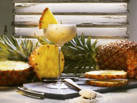 Ananas-Champagner-Cocktail