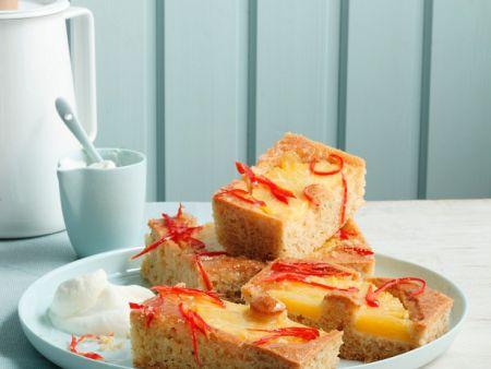 Ananaskuchen vom Blech mit Peperoni