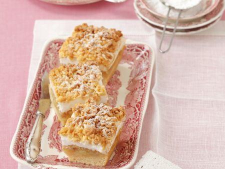 Apfel-Baiser-Kuchen mit Streuseln
