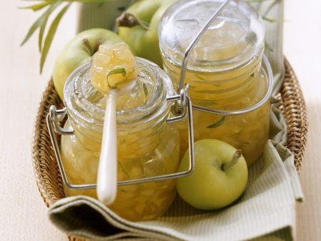 Apfel-Birnen-Marmelade mit Estragon