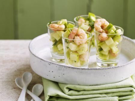 Apfel-Garnelen-Vorspeise