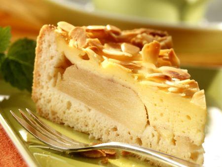 Apfel-Pudding-Kuchen mit Mandeln