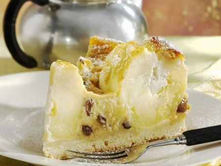 Apfel-Rosinen-Torte mit Vanillecreme