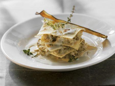 Auberginen-Lasagne mit Gorgonzola