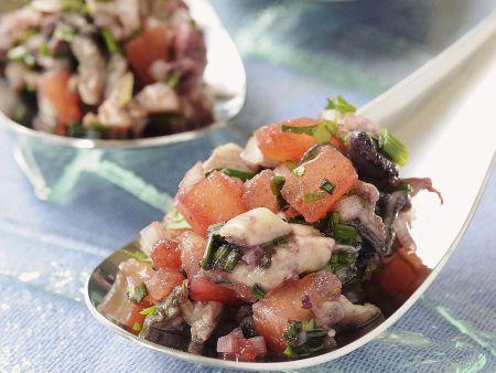 Austern mit Tomaten und Rotweinsoße