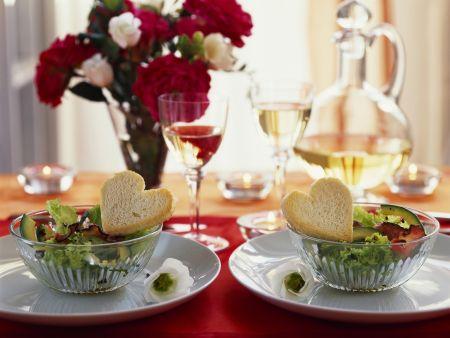 Avocadosalat zum Valentinstag