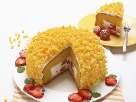 Biskuittorte auf italienische Art (Torta mimosa)