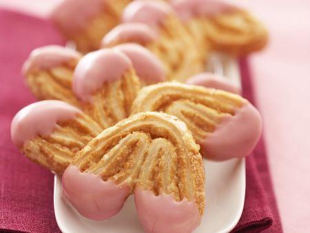 Blätterteig-Schweineöhrchen mit Schokolade