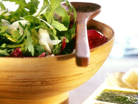 Blattsalat mit Zitronendressing