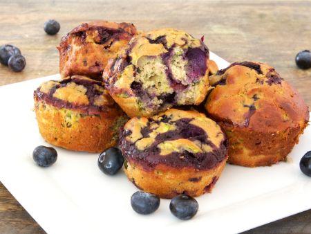 Blaubeer-Zucchini-Muffins