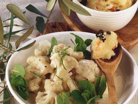 Blumenkohl mit Kartoffelpüree
