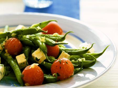 bohnen tomaten pfanne mit fetak se rezept eat smarter. Black Bedroom Furniture Sets. Home Design Ideas