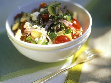 Bohnen-Tomatensalat