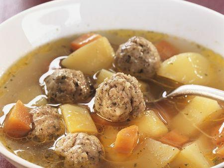 Brätklößchen-Suppe