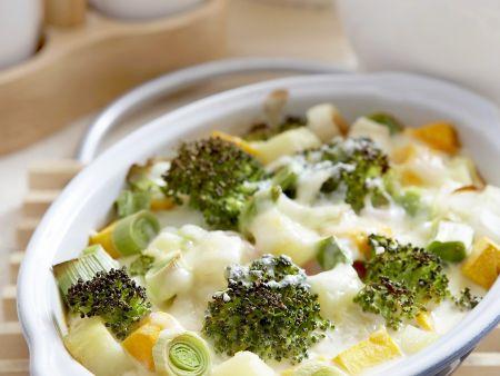 Brokkoli-Gemüsegratin