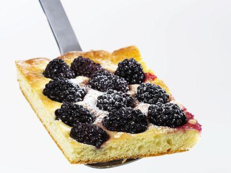 Brombeer-Blechkuchen