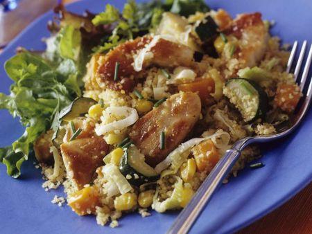 Buchweizen mit Gemüse und Hähnchen