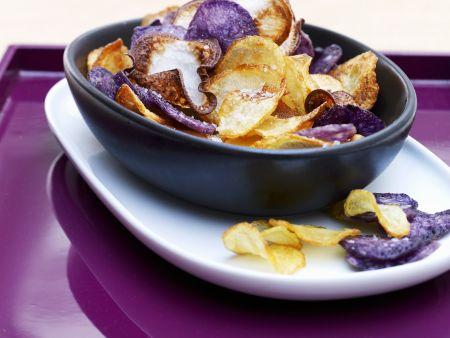 Bunte Kartoffelchips