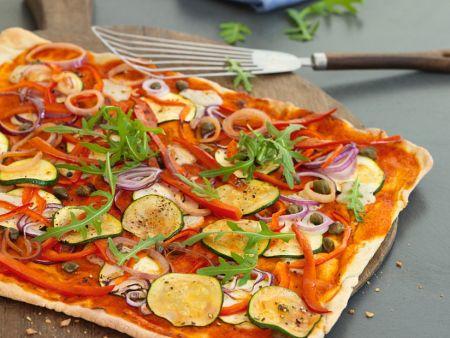 Gemüse-Flammkuchen