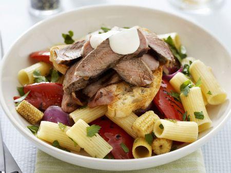 bunter pastasalat mit rind rezept eat smarter. Black Bedroom Furniture Sets. Home Design Ideas