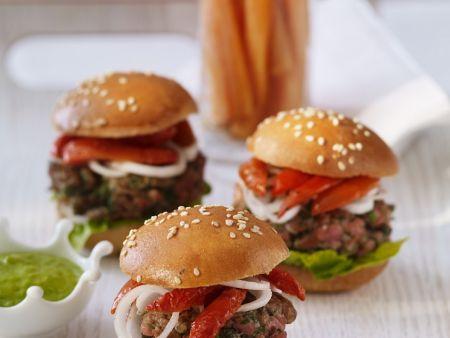 Burger mit Lammfleisch